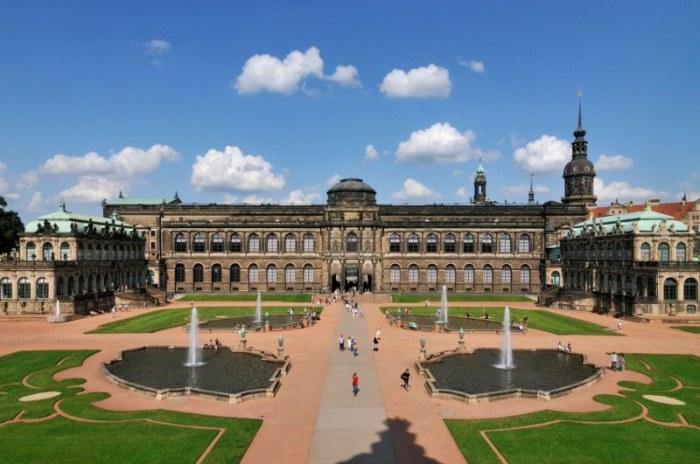 Dresden, Zwingerhof, Semperbau, Gemäldegalerie, Französischer Pavillon, Deutscher Pavillon,